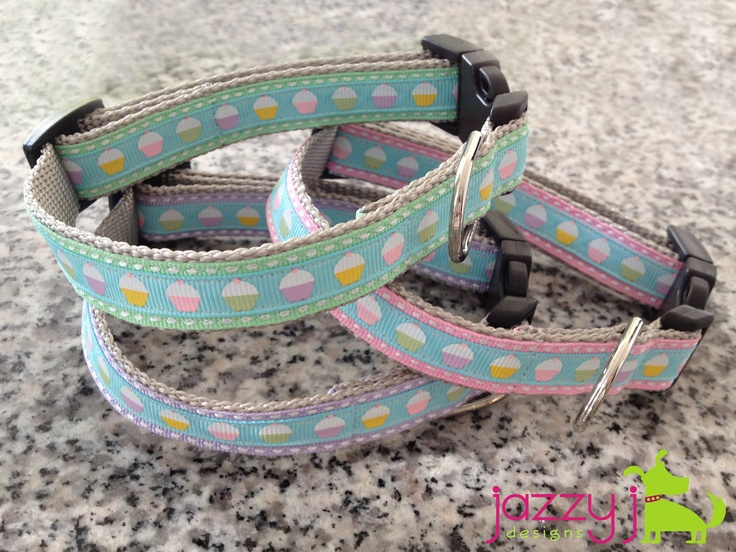Pastel Cupcake Dog Collars by Jazzy J Designs on Etsy $15: Dogs, Dog Collars, Etsy 15, Baby Pink, Pastel Cupcakes, Jazzy