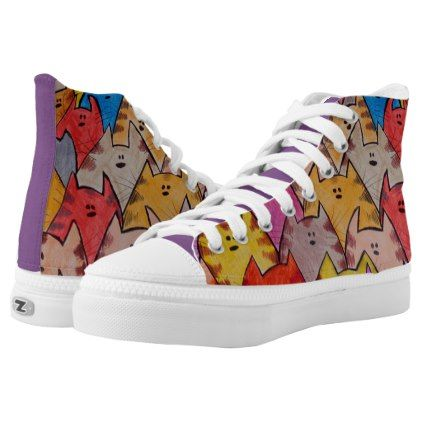 #Gatos 02 - Cats 02 - zapatilla tipo converse High-Top Sneakers - #womens #shoes #womensshoes #custom #cool