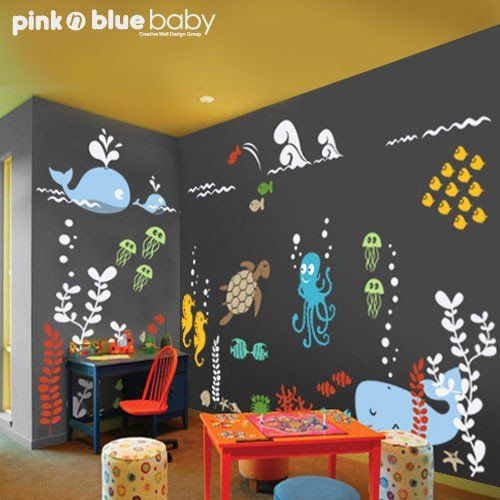 - Detail - Size Going to an Aquarium is bound to be fun because of all different sea creatures that are available to see there. This underwater decal is designed to appeal to children with its colorfu