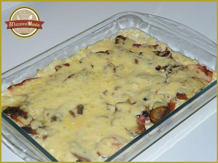 Шпецле (или немецкие клецки), запеченные с беконом и сыром. Приготовление. Шаг 8
