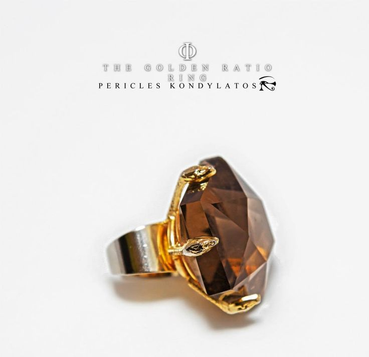 «Φ» The Golden Ratio Ring by Pericles Kondylatos Gold & Amethyst «Φ» Ring is being made in order to honor the Golden number. https://www.facebook.com/media/set/?set=a.732532060187657.1073742108.311755968931937&type=1