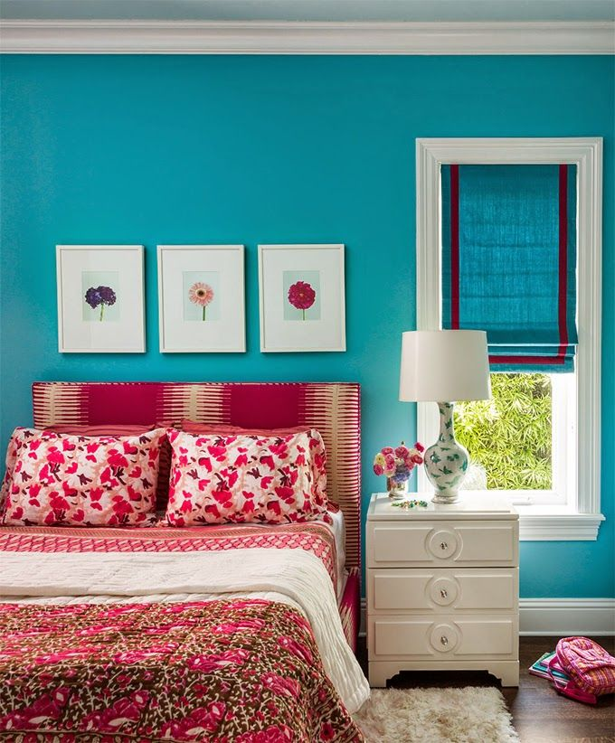 Andrew Howard Interior Design Turquoise Bedroom Walls Meridian Blue 761 Benjaminmoore