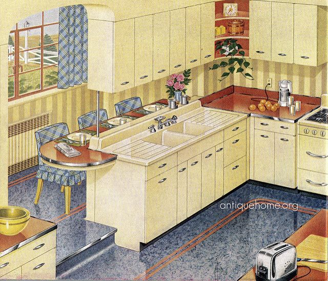 160 best 1940\'s Style images on Pinterest | Retro kitchens ...
