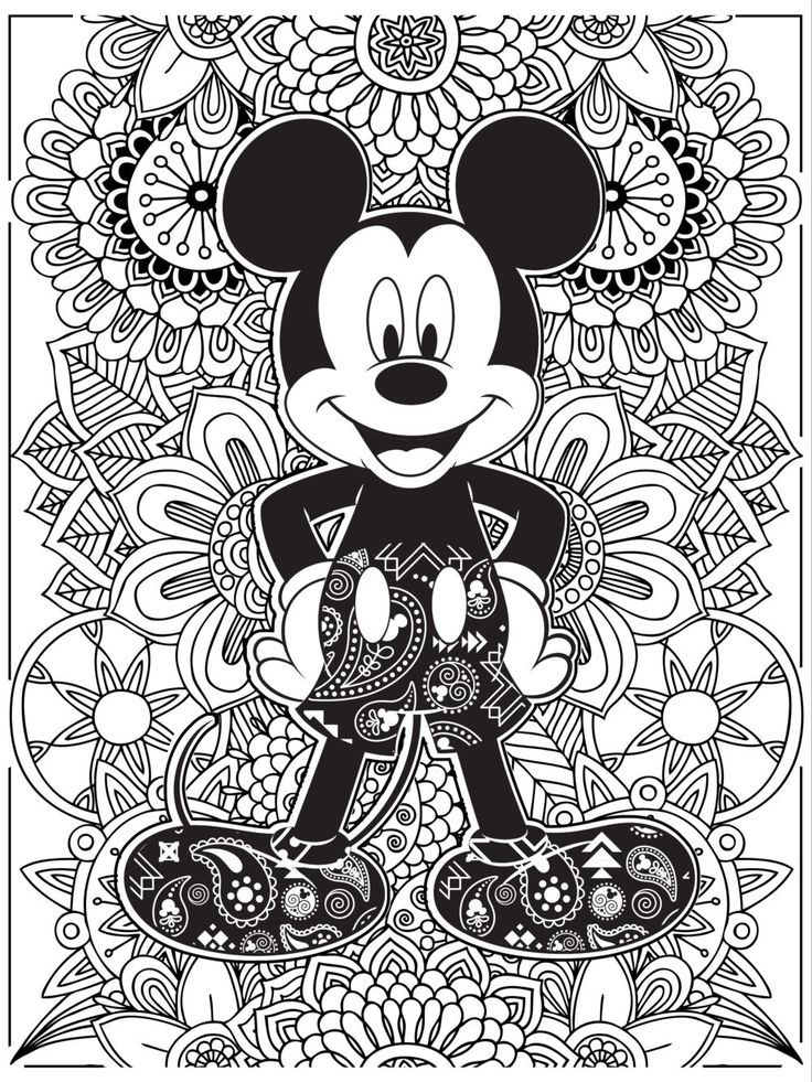 100 best coloring images on pinterest crayon art colouring and colouring pages - Disney Coloring Page