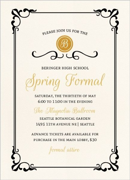 16 best Prom invitations images on Pinterest Invitations - prom tickets design