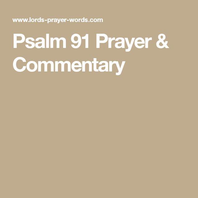 Psalm 91 Prayer & Commentary