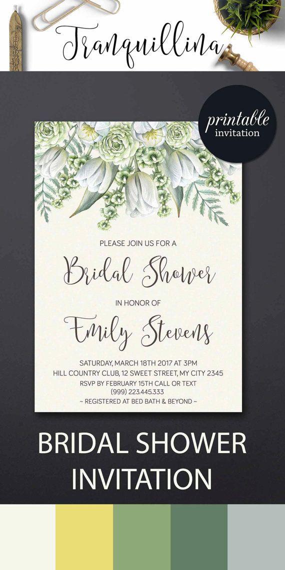 bridal shower invitation floral botanical bridal shower invitations printable bridal shower invitation greenery