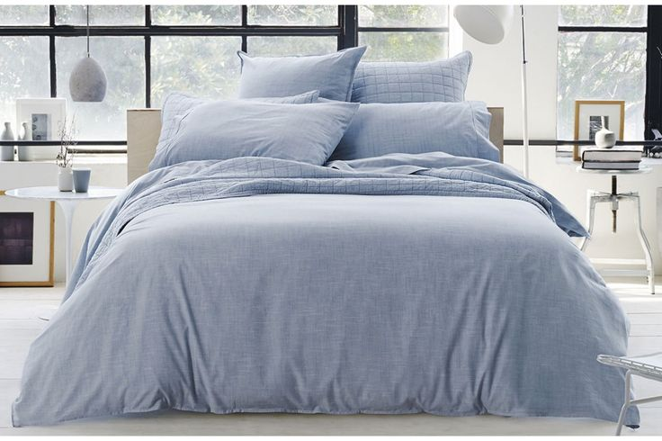 Reilly Blue Super King Quilt Cover by Sheridan