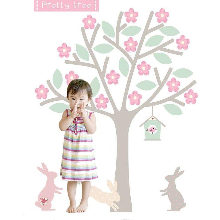 blossom tree fabric wall sticker by littleprints | notonthehighstreet.com