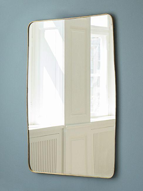 1950's, Italy, brass mirror -★-