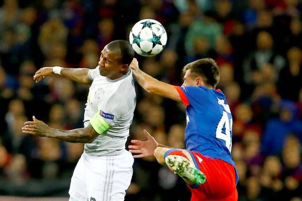 Ashley Young of Manchester United in action during the UEFA Champions League match between CSKA Moscow and Manchester United at VEB Arena in Moscow...
