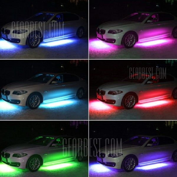 Under Car Chassis Lights Strips Rgb Led Neon Underbody Lamps Bars