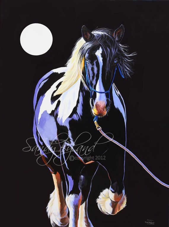 DRAFT HORSE Signed Fine Art Giclee Print by SandyBylandFineArt, $24.95