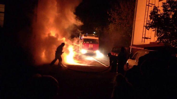 Ночной взрыв машины в Красногорске