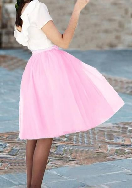 feafddcee Pink Grenadine Draped Fluffy Puffy Tulle Homecoming Party Sweet Skirt |  bottoms | Tulle tutu, Tulle, Skirts