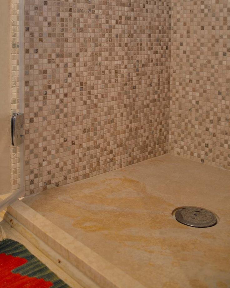 Piatto doccia in Pietra di Rapolano modello FLAT