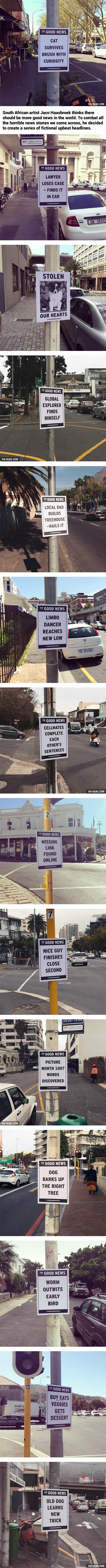 """Artist Delivers """"The Good News"""" With Upbeat Street Flyers"""