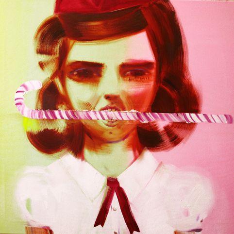 Candy Cane, 110 cm x 120 cm, Katja Tukiainen 2009