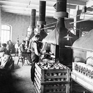 Primus factory at Lilla Essingen in Stockholm, Sweden from 1907.