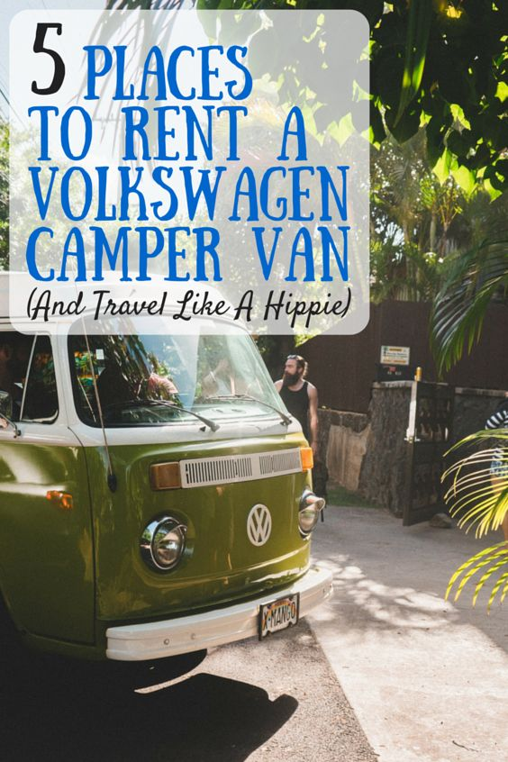 5 Places To Rent A Volkswagen Camper Van (And Travel Like A Hippie) #travel #roadtrip :)
