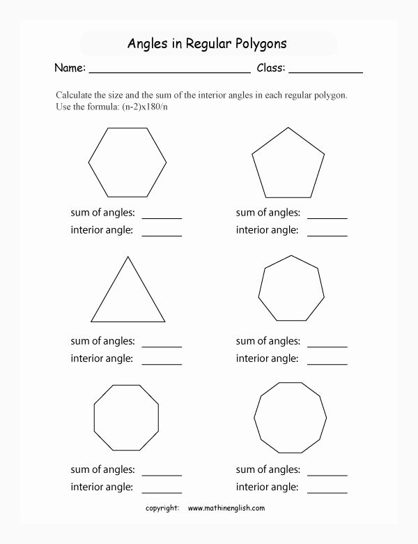 Area Of Regular Polygons Worksheet New Math Geometry ...