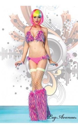 Bikini 2 pièces Fausse Fourrure - Monsterette - Leg Avenue