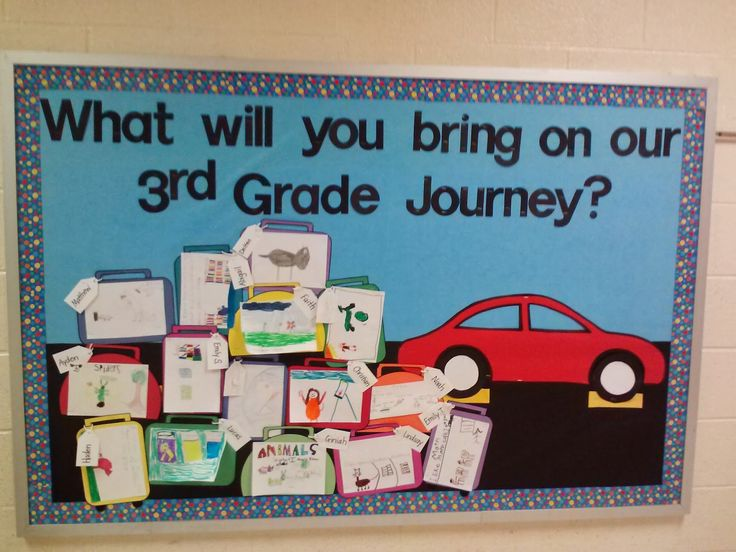 My Other Life in Third Grade: Back-to-School Bulletin Board - Road Trip