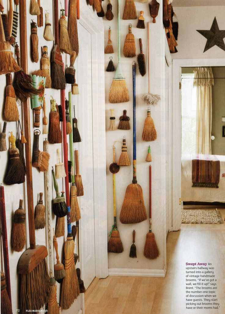 Because You Can Never Have Too Many Brooms A Witch S Dream Displaying Collections Antique Collection Brooms