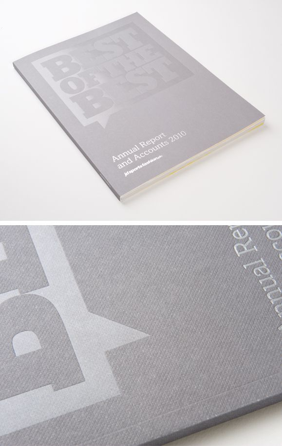 213 best print techniques images on pinterest business cards jd sports annual report and accounts 2010 the cover printed on colorplan prisine white reheart Choice Image