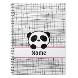 Personalized Panda Notebook