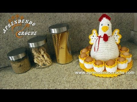 Crochet: Learn how to make a beautiful of crochet support for eggs - wonderful