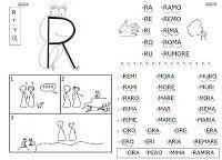 IMPARARE A LEGGERE? FACILE FACILE...: RANA RAMIRA (lettera R)
