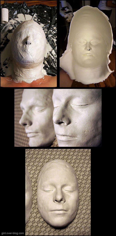 Masque alginate et plâtre, sur moi!