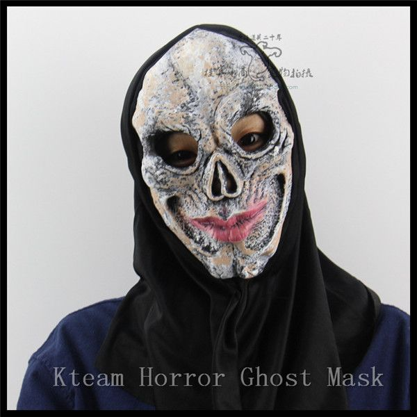 Scary Skull Masks mascaras de latex realista Mummy Mask Adult Full Head Halloween Mask Fancy Party Cosplay Costume Theater Toy