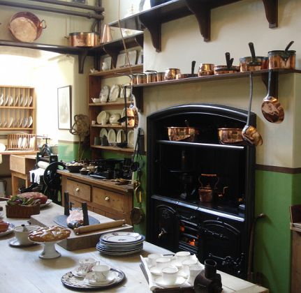 rustic country cottage kitchen stove - Google Search favorite