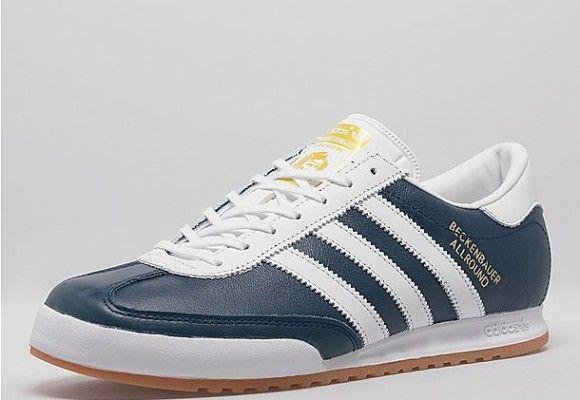 adidas Originals Beckenbauer trainers in navy/white ‹ Yes Squire