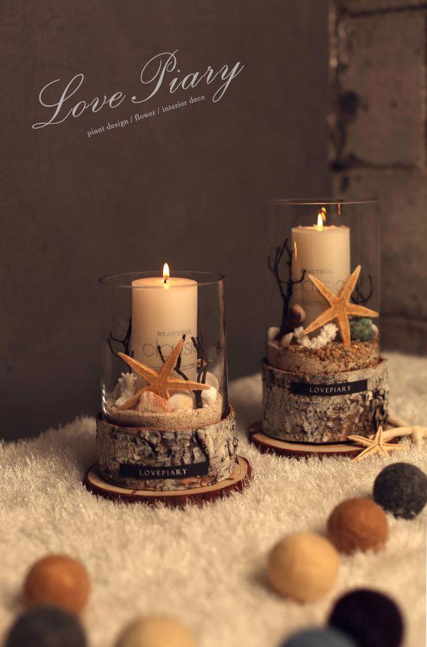 [바보사랑] 따뜻한 바다를 품은 캔들 /캔들/인테리어소품/초/선물/디자인소품/Candle/Interior/Design/Gift