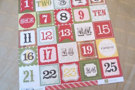 Homemade Advent Calendar with activities for every day