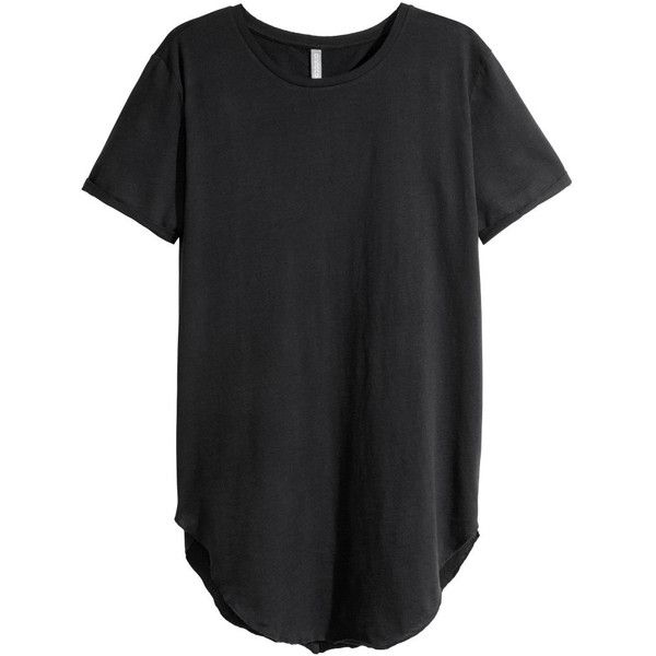 Long T-shirt $17.99 ($18) ❤ liked on Polyvore featuring tops, t-shirts, men, h&m, long, tees, long t shirts, long tops, h&m tops and h&m t-shirts