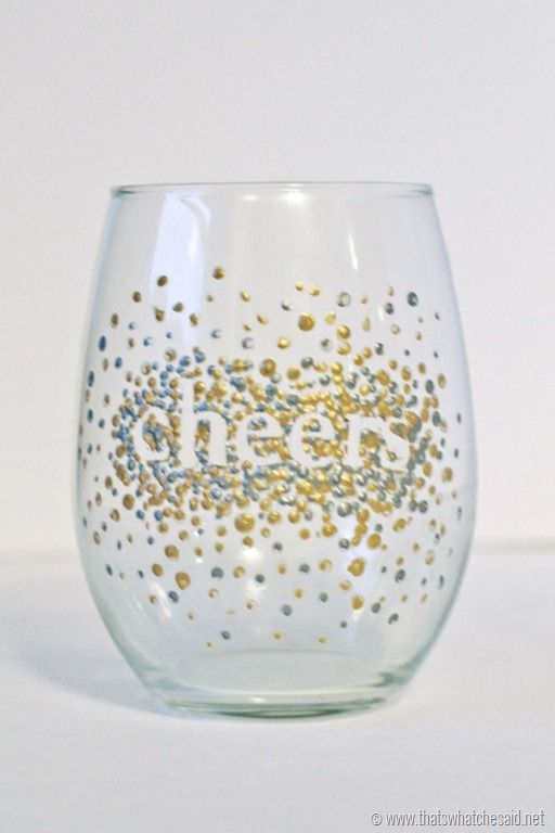 Dot Hand Painted Wine Glasses #handmadegift – That's What {Che} Said…