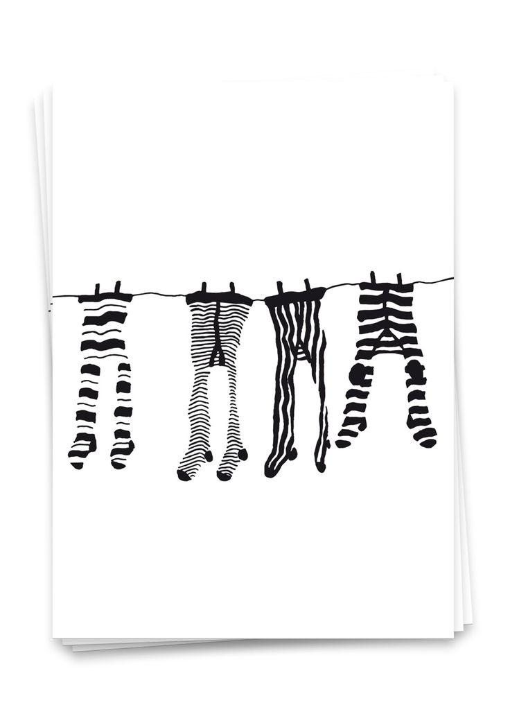 Kinderstrumpfhosen - Postkarte | Ulrike Wathling