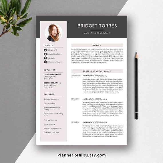 Best Selling Cv Template Resume Template For Ms Word Etsy Resume Template Cv Template Resume Templates