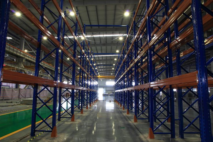 Tear drop selective pallet racking system