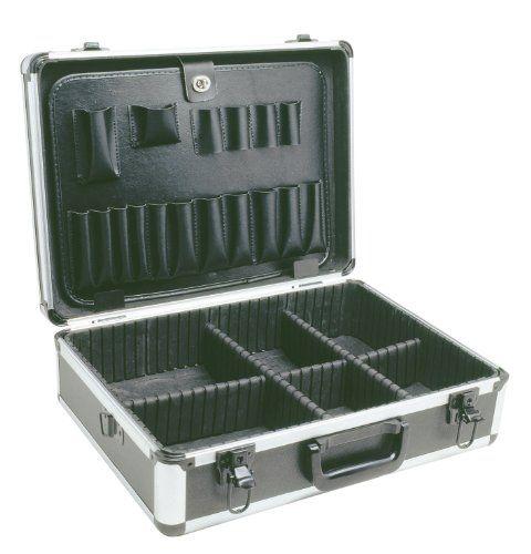 Cogex 62025 Valise de rangement aluminium: Valise aluminium de rangement 450 x 335 x 150 mm avec double cloison porte outil + séparateurs
