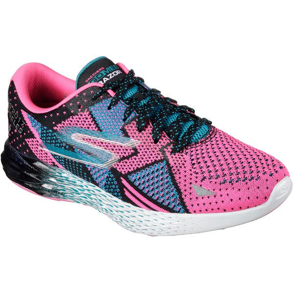 Skechers Women's Skechers Gomeb Razor - Skechers Performance Los... ($130) ❤ liked on Polyvore featuring shoes, sneakers, pink, pink sneakers, pink trainers, skechers trainers, skechers sneakers and skechers shoes