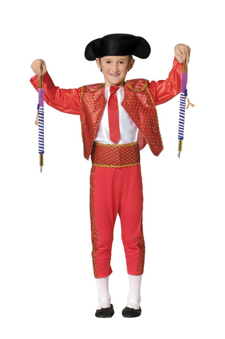 DisfracesMimo, disfraz de torero deluxe niño varias tallas. Es perfecto para convertirte con este disfraz de torero banderillero niños en un auténtico maestro taurino y salir a hombros por la puerta grande.Este disfraz es ideal para tus fiestas temáticas de disfraces de toreros y toros infantiles.