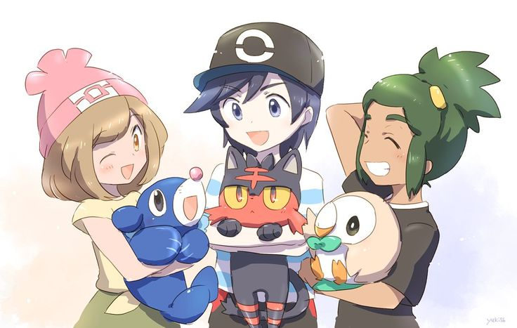 By Yukipkmn  Pokemon Sun and Moon's New Starters Already Have So Much Fanart ...