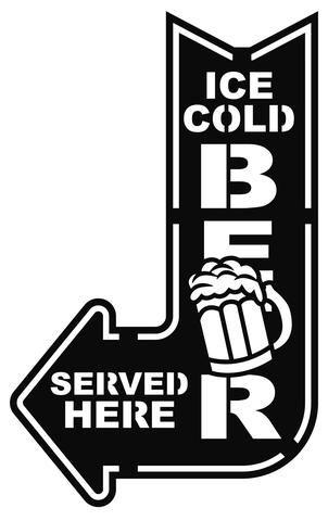 Beer Served Here - Plasma Laser DXF Cut File