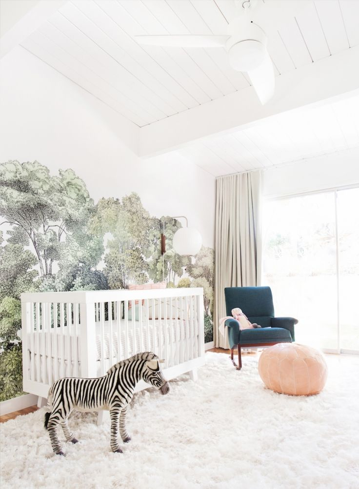 A Baby Girl's Blush and Green Nursery