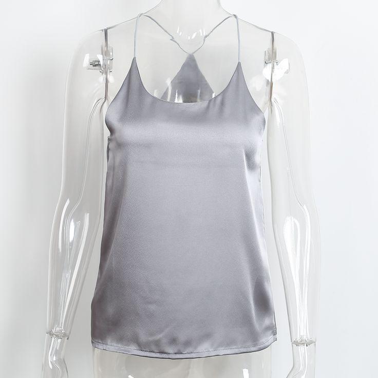 BeAvant 2016 новый летний стиль рукавов белый шелк женщины tank top Sexy глубокий v шеи черный камзол танк Повседневная party girls топы купить на AliExpress